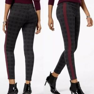 Hue plaid leggings tuxedo style medium